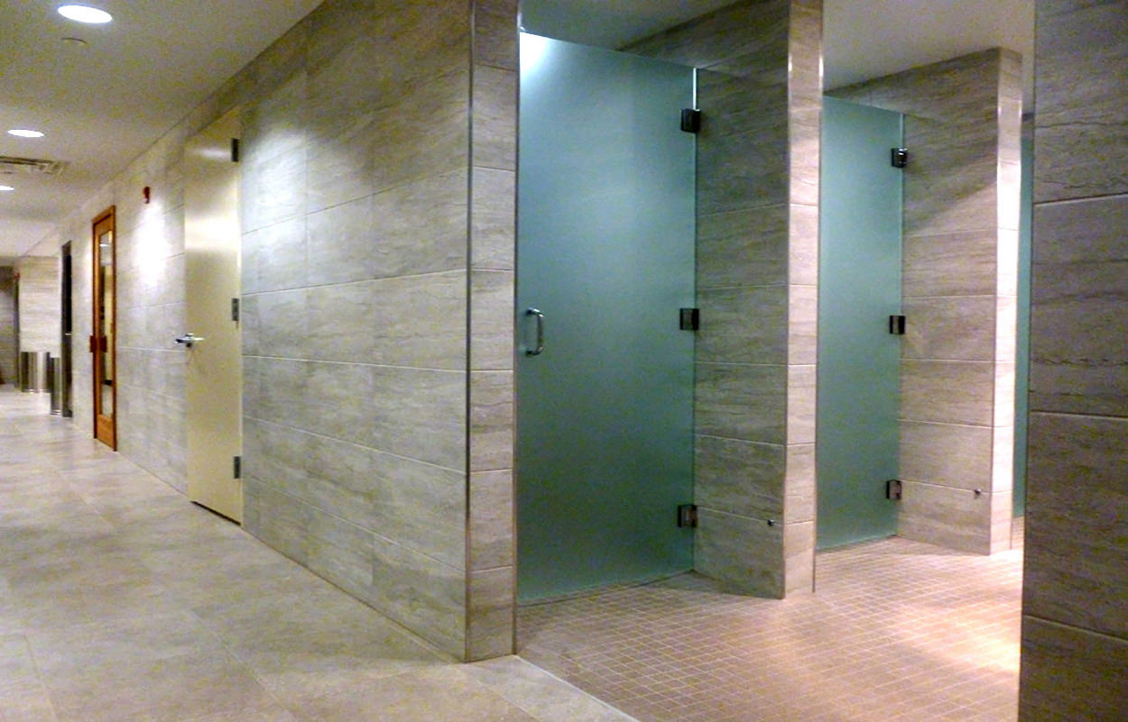 shower Coed locker room